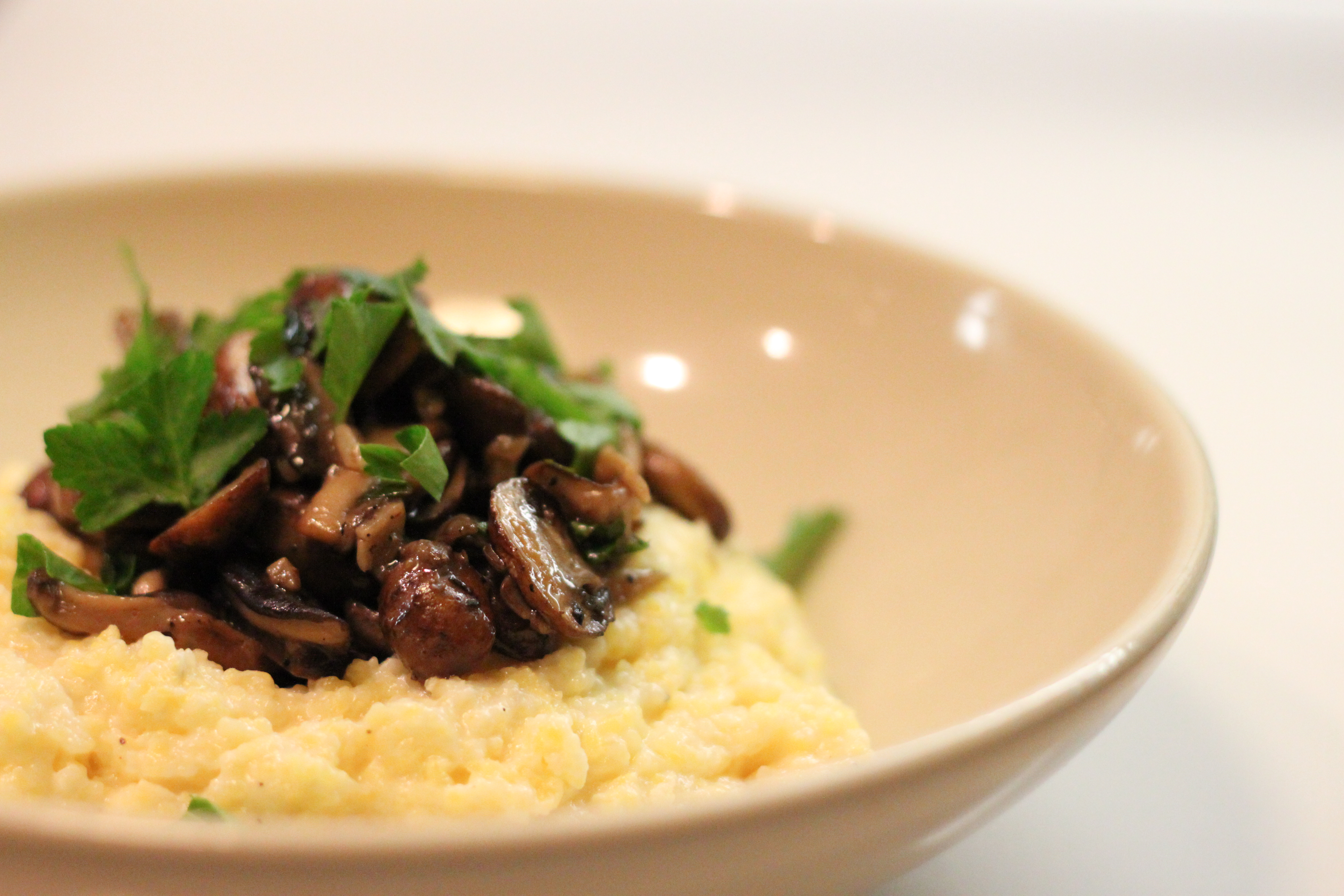 Creamy Mascarpone Polenta with Mushrooms | Mission Delectable