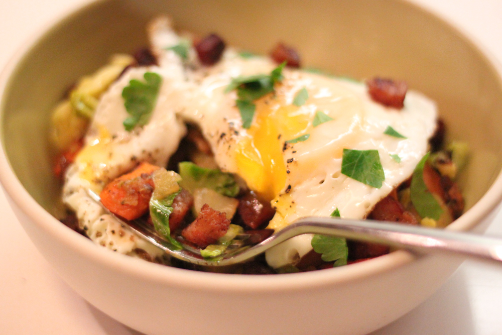 Winter Vegetable Hash with Pancetta | Mission Delectable