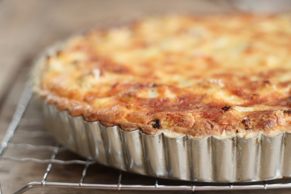 Caramelized Onion & Roasted Cauliflower Tart | Mission Delectable